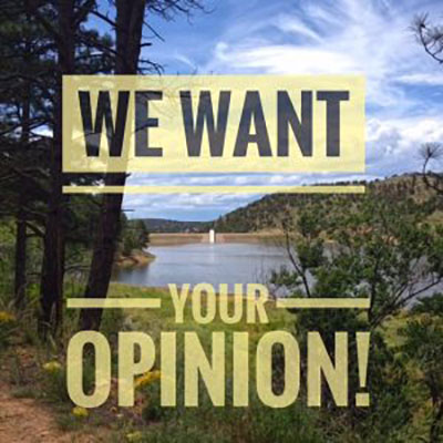 We want your opinion!