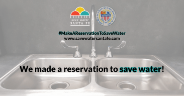 Make a Reservation to Save Water Campaign Facebook Graphic