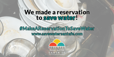 Make a Reservation to Save Water Campaign Twitter Graphic